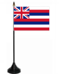 Hawaii Desk / Table Flag with plastic stand and base.